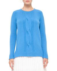Akris Punto Cable Knit Crewneck Sweater