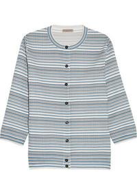 Jacquard knit cardigan blue medium 1251704