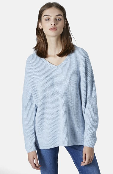 Topshop Double V Neck Rib Sweater | Where to buy & how to wear