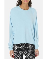 Topshop Highlow Knit Sweater Blue 6