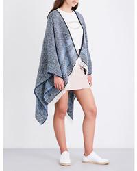 Light Blue Knit Poncho
