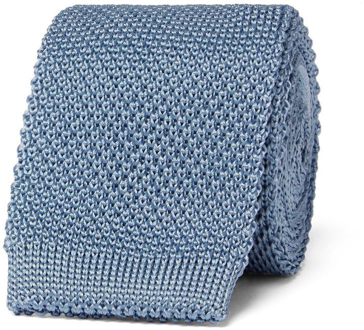 2971520863ac Burberry London 5cm Knitted Silk Tie, $195 | MR PORTER | Lookastic.com