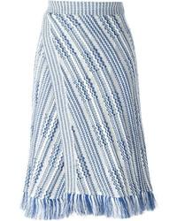 Tory Burch Fray Hem Knit Skirt