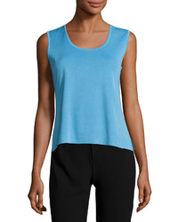 Ming Wang Scoop Neck Knit Tank Ocean