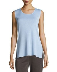 Misook Scoop Neck Long Knit Tank
