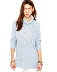 Light Blue Knit Turtlenecks for Women | Women's Fashion