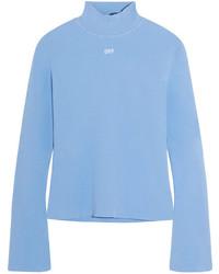 Angel stretch knit turtleneck top sky blue medium 5258876