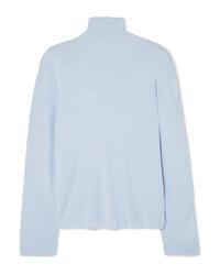 Khaite Clarice Stretch Knit Turtleneck Sweater