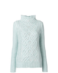 Ermanno Scervino High Neck Knit Sweater