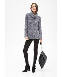 Forever 21 Marled Knit Turtleneck Sweater