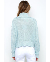 Somedays Lovin Ralphie Light Blue Crop Sweater | Where to buy ...