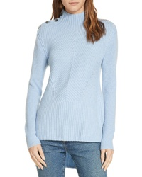 Veronica Beard Rama Merino Wool Cashmere Highlow Sweater