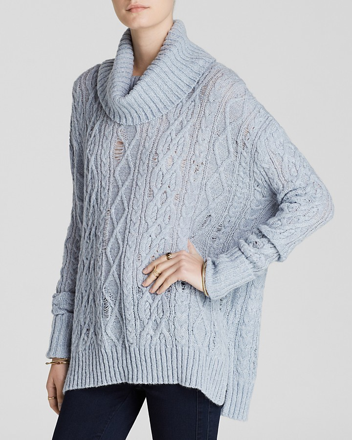 Free People Sweater Complex Cable Turtleneck | Where to buy & how ...