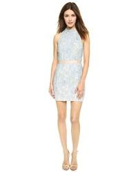 Light Blue Lace Bodycon Dress