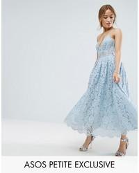 Asos Petite Petite Lace Cami Midi Prom Dress