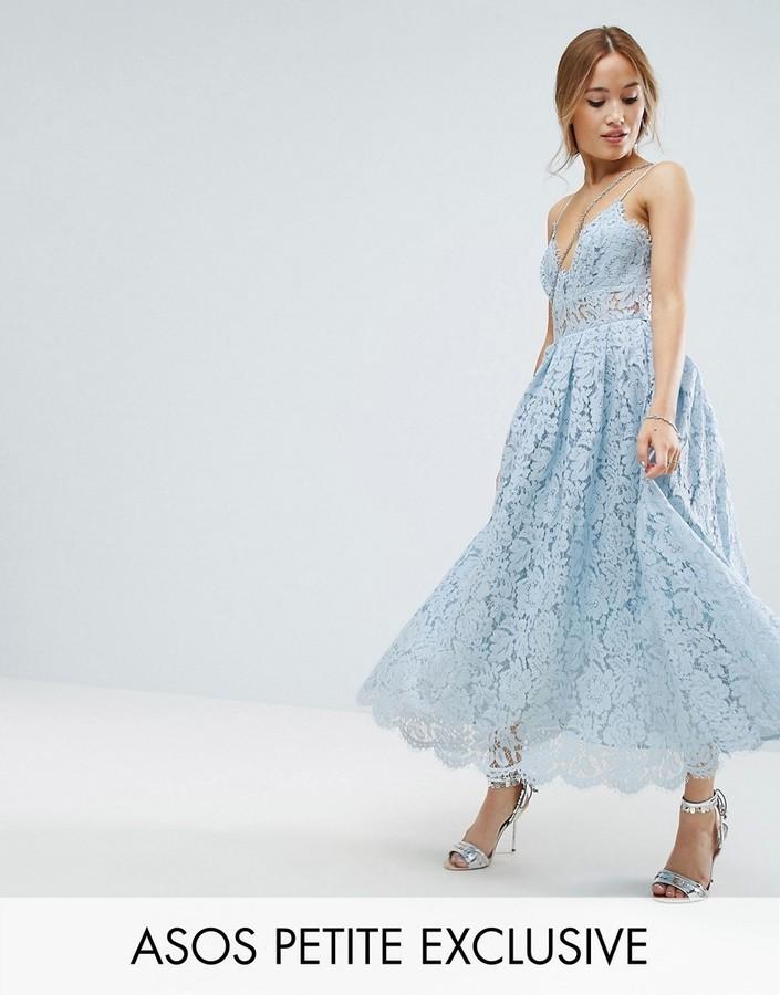 06b70a7b36 ... Asos Petite Petite Lace Cami Midi Prom Dress ...