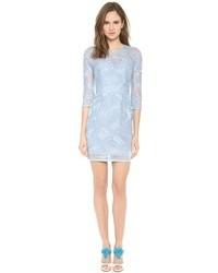 Womens Light Blue Lace Evening Dresses By Lela Rose