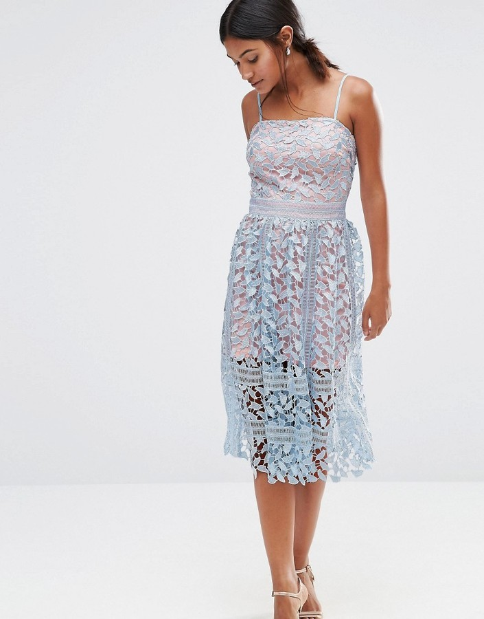3f82dff84be ... Light Blue Lace Midi Dresses Boohoo Premium Lace Midi Dress ...