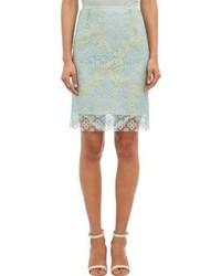 Huishan Zhang Lace Skirt Blue