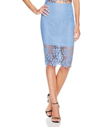 ASTR Illusion Lace Pencil Skirt