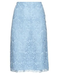 Nina Ricci Macram Lace Pencil Skirt