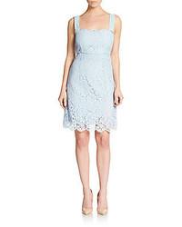 Light Blue Lace Sheath Dress