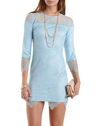 Charlotte Russe Bodycon Scalloped Lace Dress