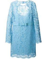 Emilio Pucci Belted Lace Dress