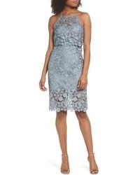 Light Blue Lace Sheath Dresses for Women  9a7da794b