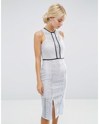Pencil dress in lace with tipping medium 823891