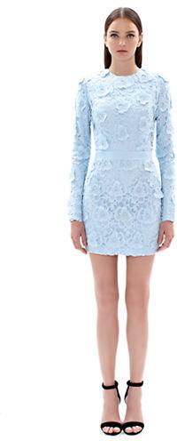 Rosette Lace Open Back Dress