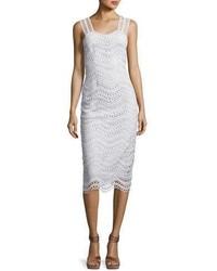 Wave lace sleeveless sheath dress light blue medium 3698075