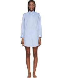 Raphaëlla Riboud Blue Cotton Lace Marilyn Night Shirt