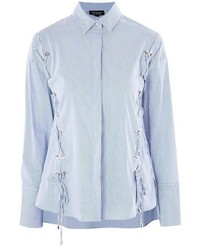 Topshop Eyelet Lace Up Shirt