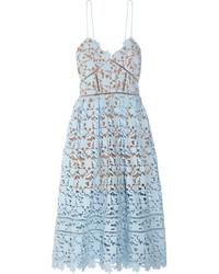 Azlea guipure lace midi dress sky blue medium 4990349