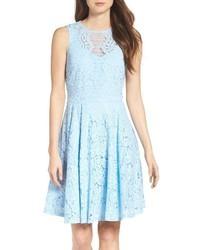 Lace fit flare dress medium 4990351