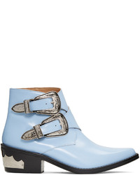 Toga Pulla Blue Double Buckle Boots
