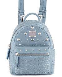 MCM Logo Print Embellished Backpack Out of stock · MCM Stark Special Bebe  Boo Leather Backpack Sky Blue 16e06b98c1c9e