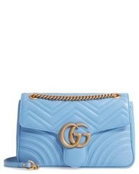 Gucci Medium Gg Marmont 20 Matelasse Leather Shoulder Bag