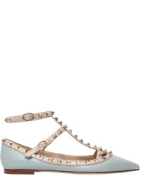 Rockstud leather ballerina flats medium 3763882