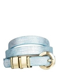 Asos Chunky Metal Keeper Waist Belt Blue