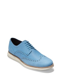 Light Blue Leather Brogues