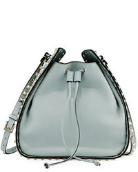 Rockstud small leather drawstring bucket bag medium 3745863