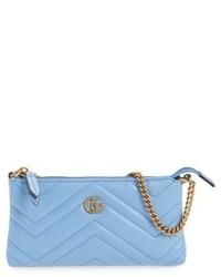 Mini gg marmont 20 matelasse leather pouch pink medium 5254582