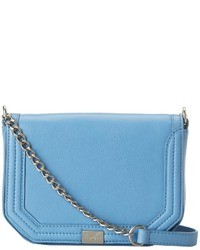 Light Blue Leather Crossbody Bag