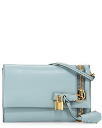 Tom Ford Alix Small Zip Padlock Crossbody Bag Light Blue