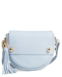 Astor leather crossbody saddle bag blue medium 4136496
