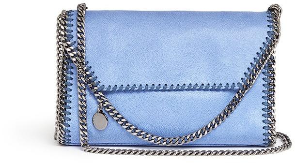 dd4d9ed5bb ... Stella McCartney Falabella Mini Flap Crossbody Chain Bag ...
