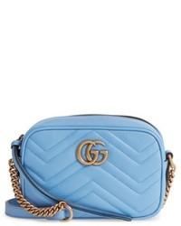 Gucci Gg Marmont 20 Matelasse Leather Camera Bag