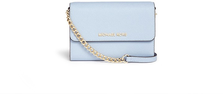 5cb81be01652 Light Blue Leather Crossbody Bags Nobrand Jet Set Travel Large Saffiano  Leather Chain Michael Michael Kors Jet Set Travel Small Crossbody ...